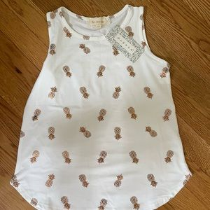 NWT pineapple gold tank top